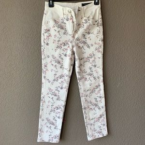Rag & bone size 27 micro floral Ellie jeans